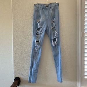 Aphrodite Hi Rise Distressed Jeans sz 7